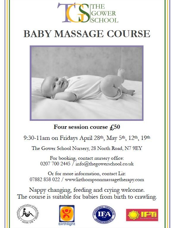Baby massage poster image Summer 2017