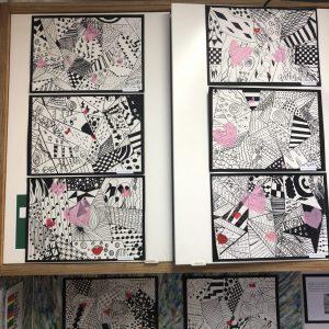 The Gower School children's artwork for Exhibition Evening 2018