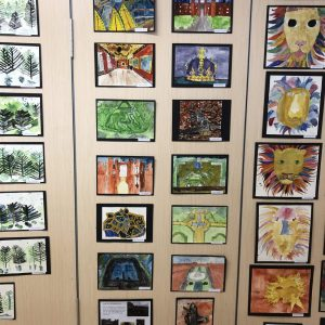 The Gower School children's artwork for Exhibition Evening 2018