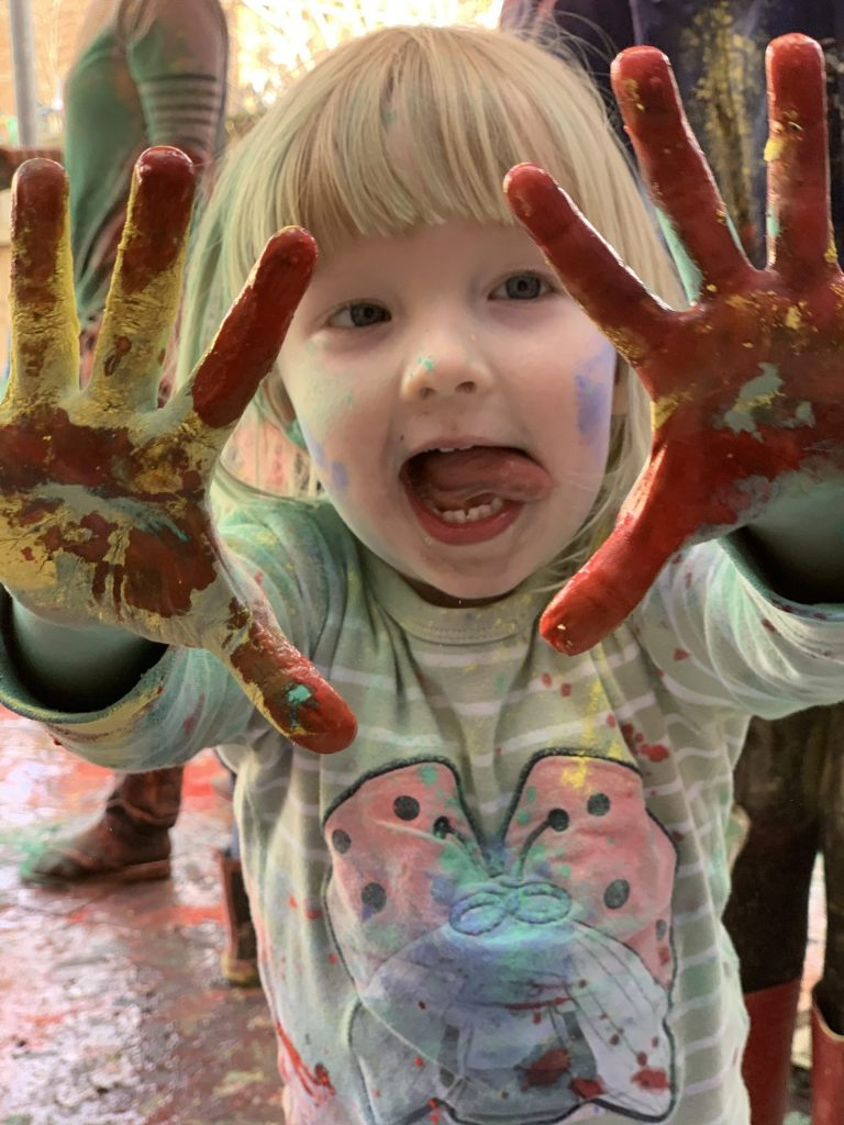 Messy play for Holi